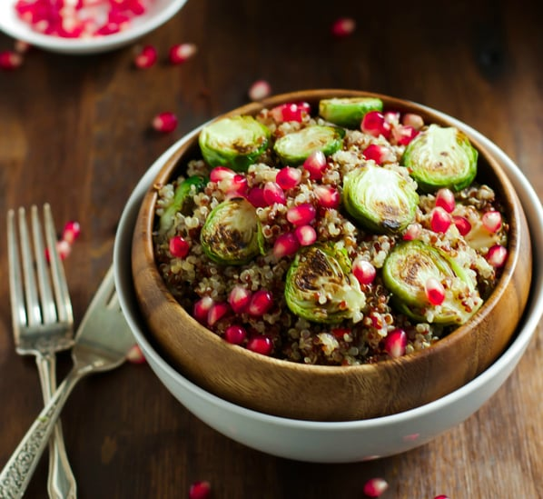 Quinoa Salad with Roasted Brussels Sprouts and Pomegranate5_