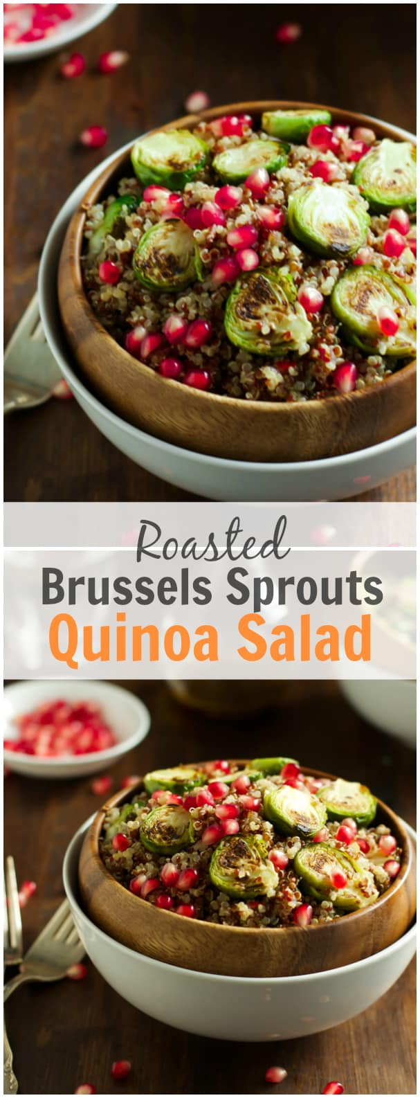 Roasted Brussels Sprouts Quinoa Salad