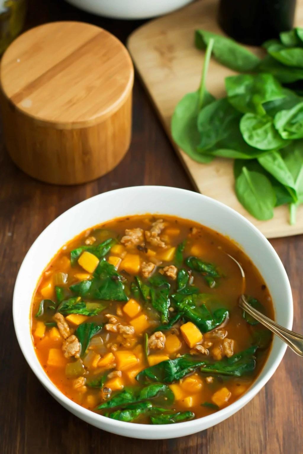Spinach Sweet Potato Soup Primavera Kitchen Recipe