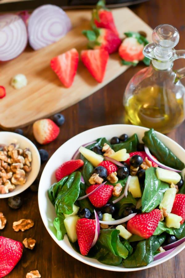 Spinach fruit Salad primavera kitchen recipe