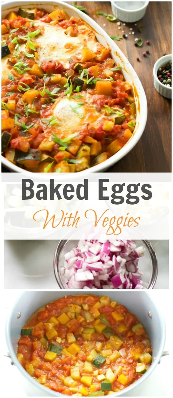 baked eggs with veggies