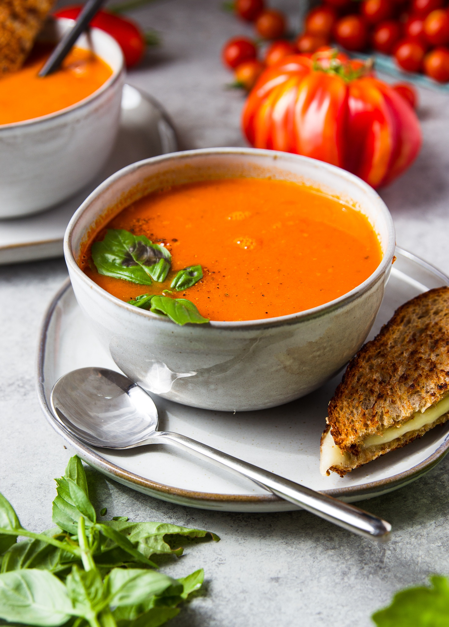 instant pot tomato soup from garden in the kitchen