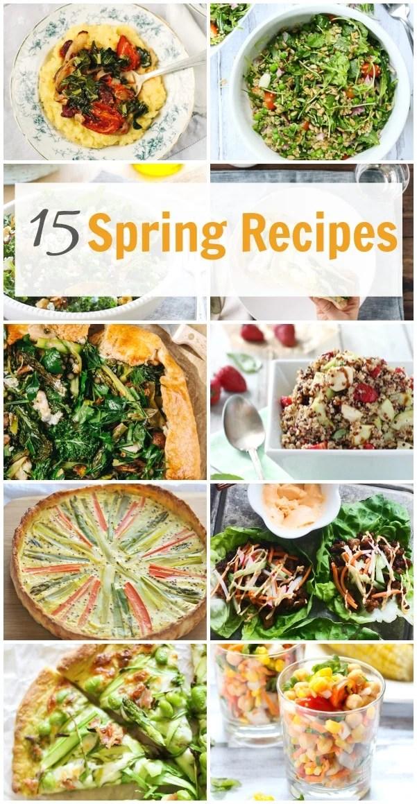 15 Spring Recipes.