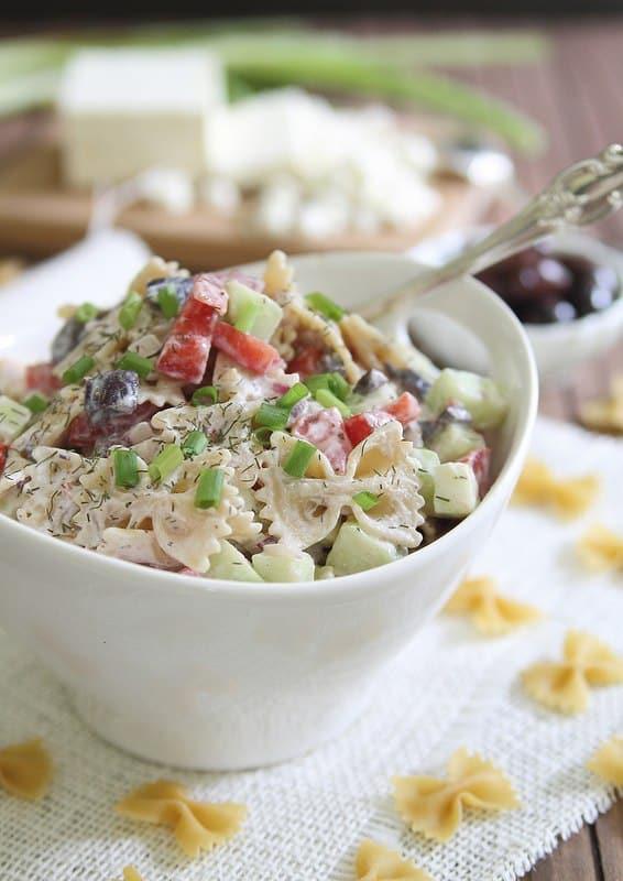 Greek Pasta Salad Healthy Summer Recipe