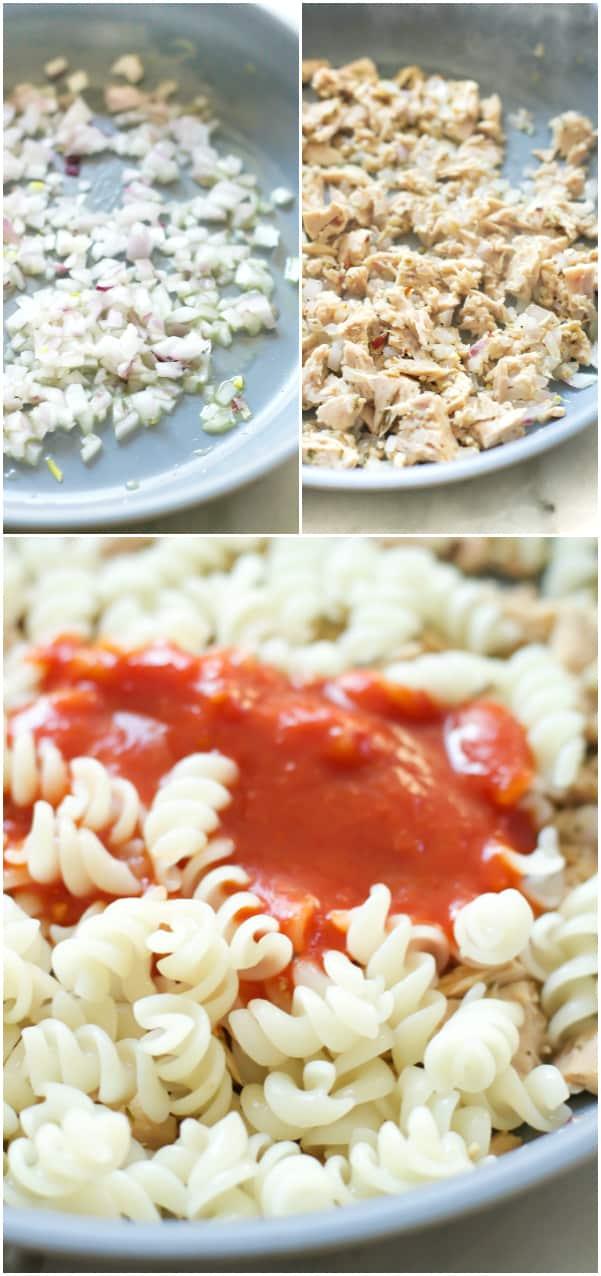 Quick Easy Tuna Pasta Primavera Kitchen Recipe