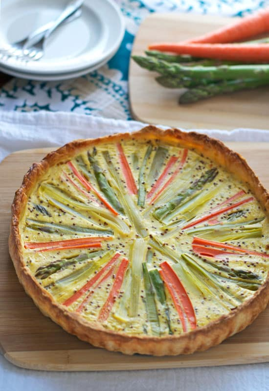 Sunburst-Spring-Vegetable-Quiche-with-Puff-Pastry-Crust-Recipe-2