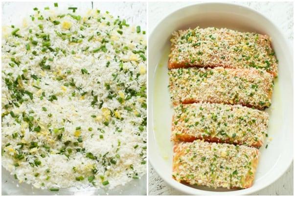 Garlic Panko Salmon Primavera Kitchen Recipe