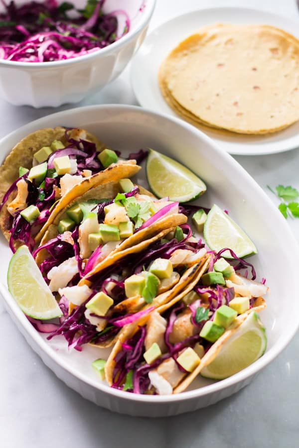 Easy Grilled Fish Tacos Recipe.