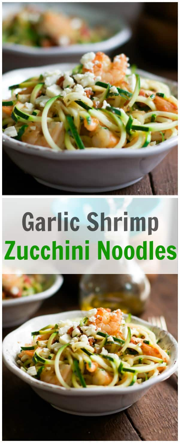 Garlic Shrimp Zucchini Noodles