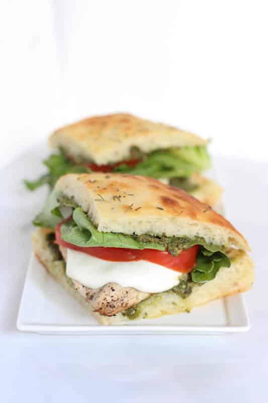 Grilled Chicken Pesto Sandwich.
