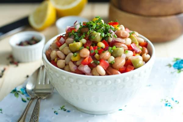 Quick Easy Bean Medley Salad-3