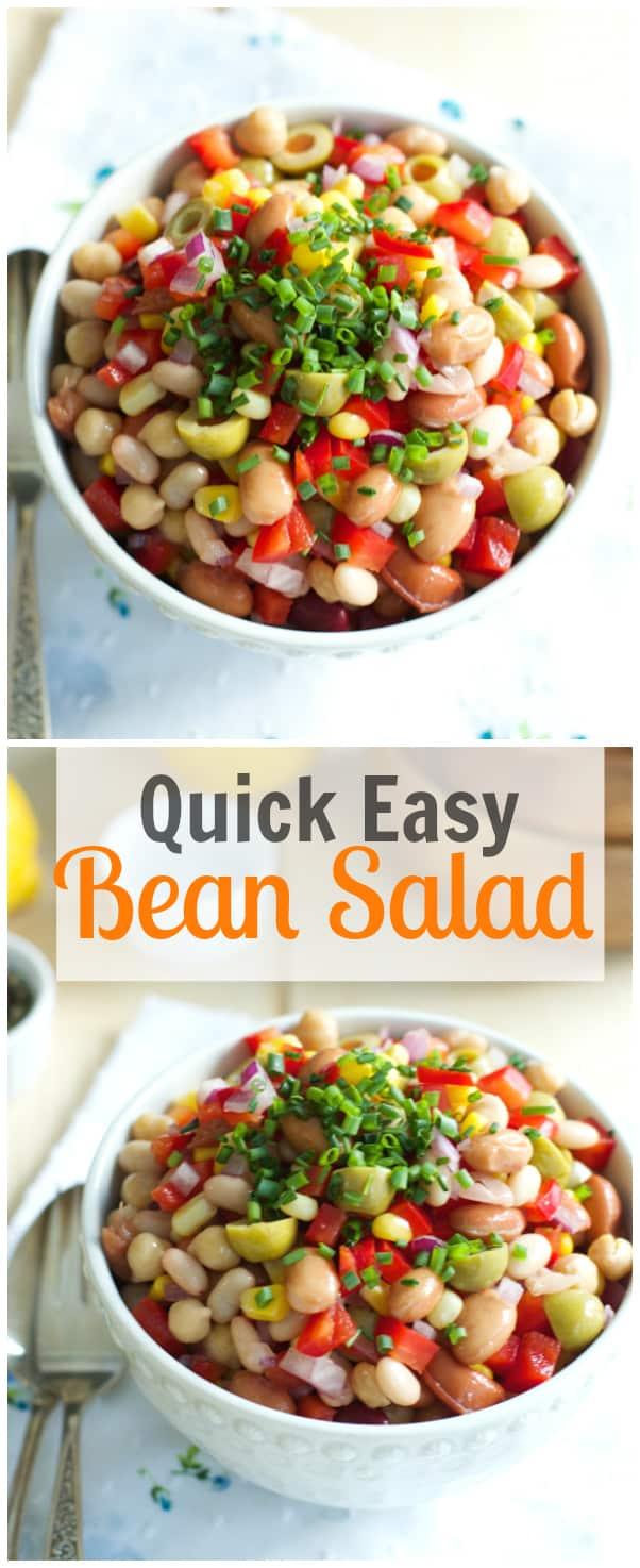 Quick Easy Bean Salad