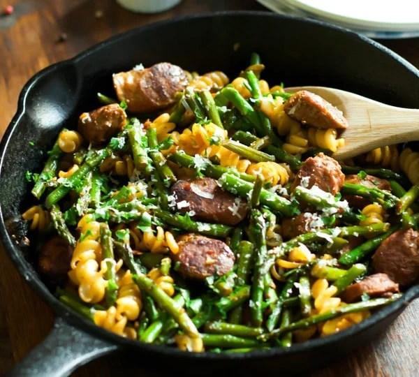 Sausage-Asparagus-Quinoa-Pasta