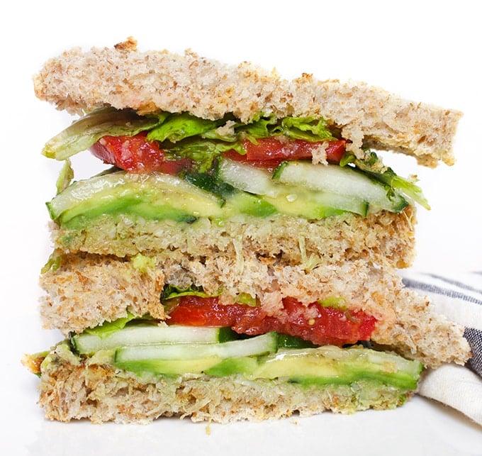 The Ultimate Vegan Sandwich.