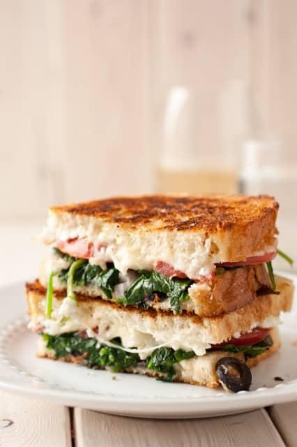 Mediterranean Grilled Cheese Sandwich.