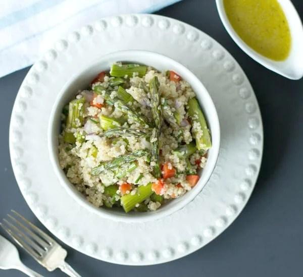 quinoa salad with roasted asparagus primavera kitchen recipe