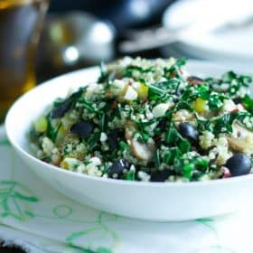 Kalamata Collard Quinoa Salad