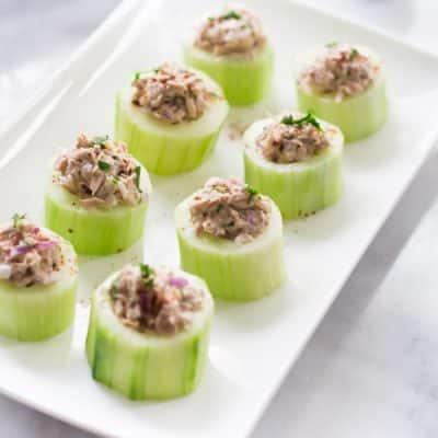 Tuna Cucumber Cups Recipe