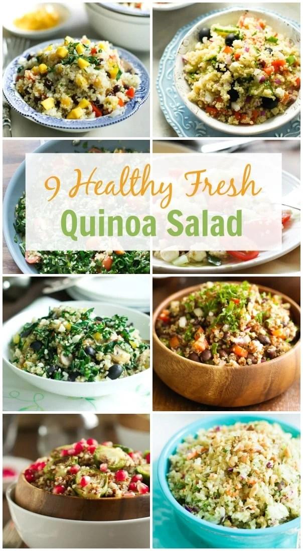 9 Healthy Fresh Quinoa Salad.
