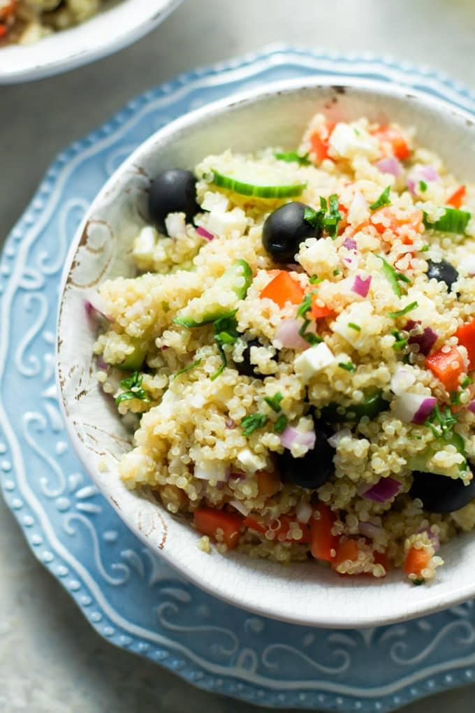 Quinoa Greek Salad-3
