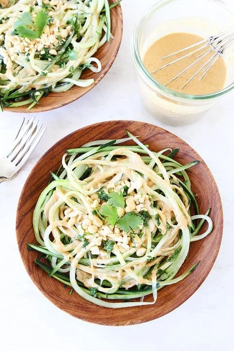 Cucumber Noodles with Peanut Sauce recipes Primavera Kitchen