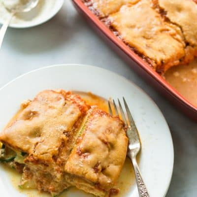 Zucchini Casserole Recipe - This zucchini, ricotta, Parmesan and tomato sauce casserole recipe makes a delicious recipe for summer. It is easy and quick to make and it is also low in carbs.