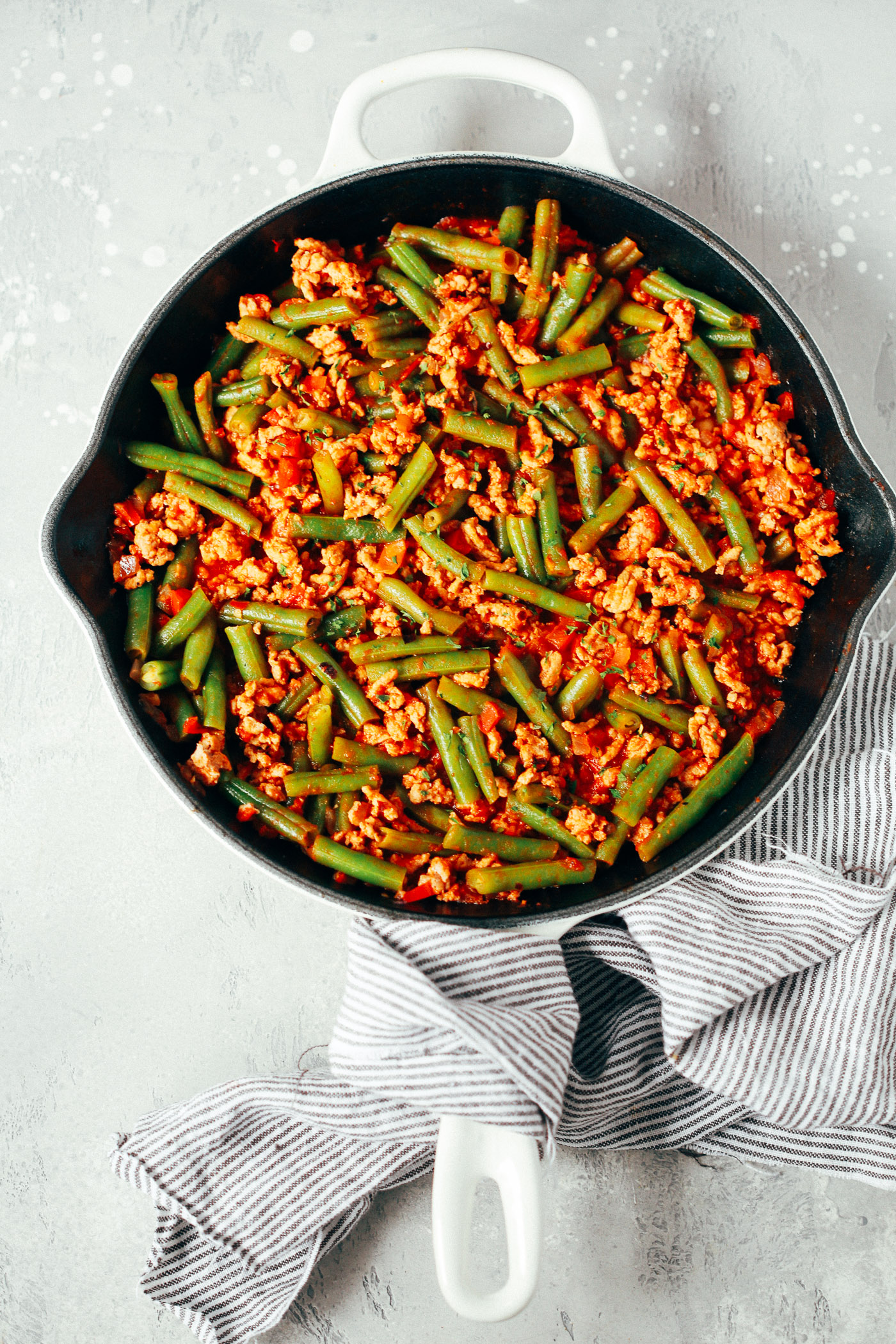 Ground Turkey Skillet With Green Beans Primavera Kitchen