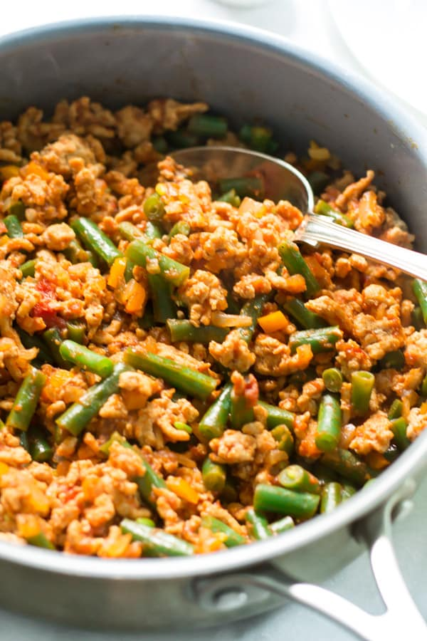 Ground Turkey Skillet with Green Beans 10 One-Pan Gluten-free Dinner Recipes Under 30 Minutes Primavera Kitchen Recipes