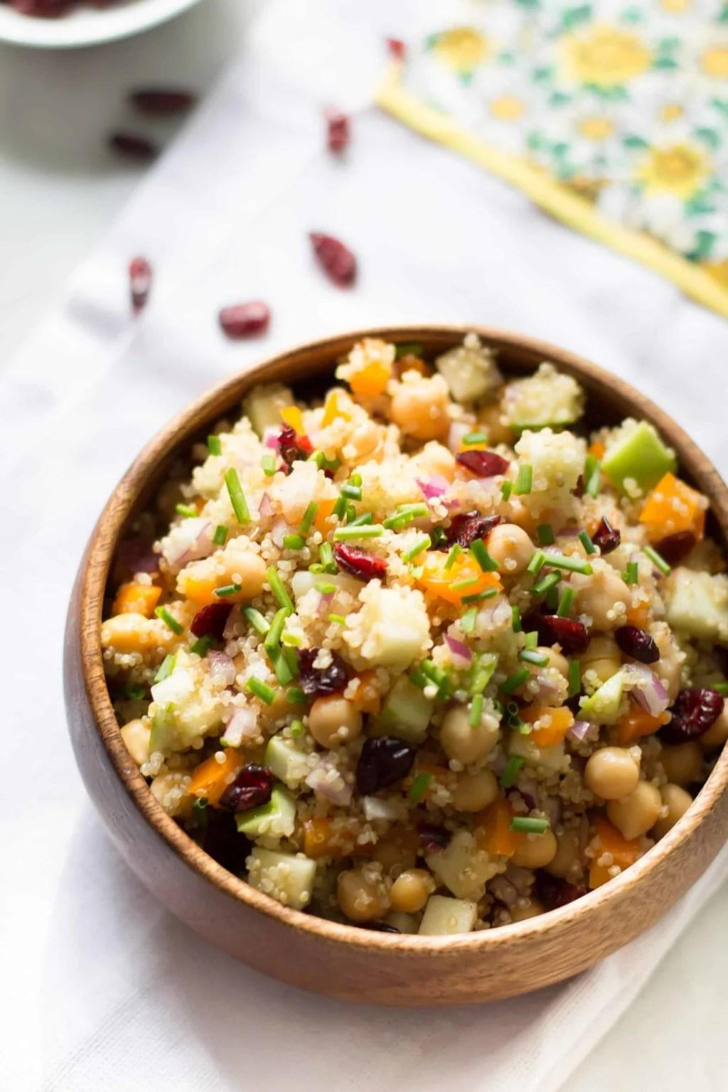 Cranberry Apple Quinoa Salad-4
