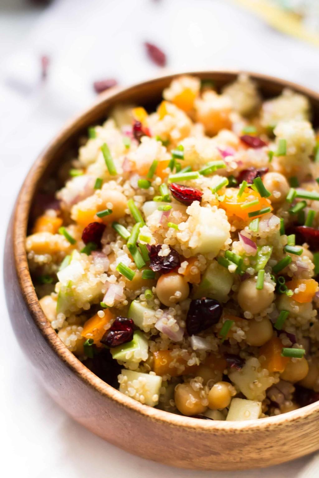 Cranberry Apple Quinoa Salad-5
