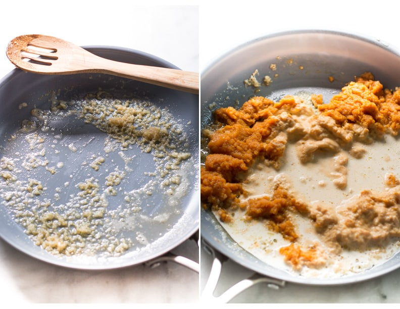 Pumpkin Alfredo Sauce Pasta Primavera Kitchen Recipe