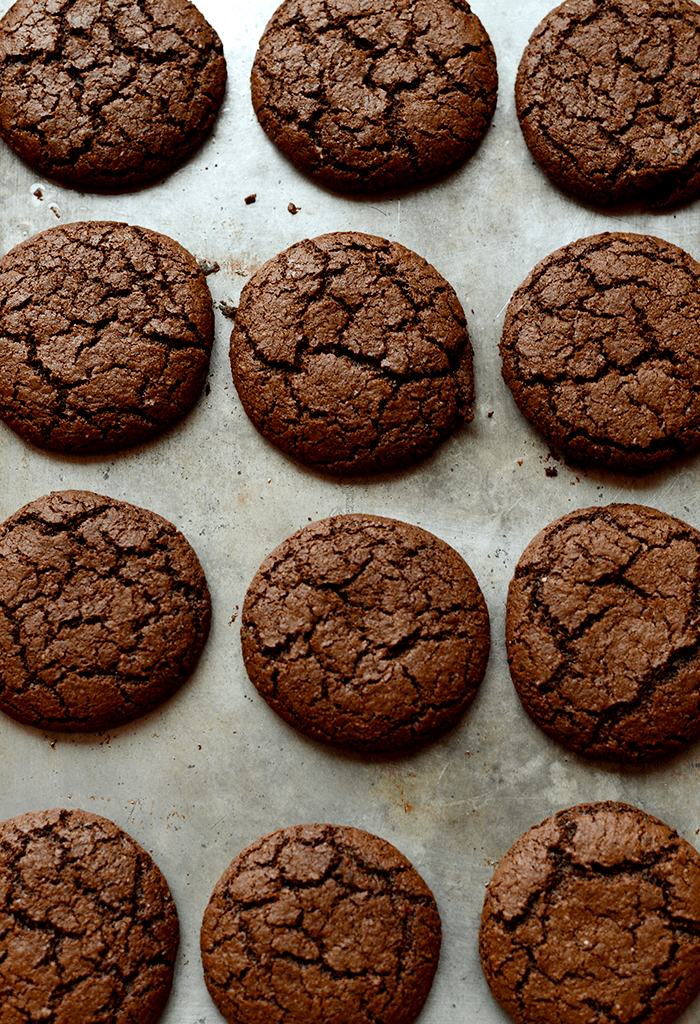 Gluten-free Chocolate Ginger Molasses Cookies.