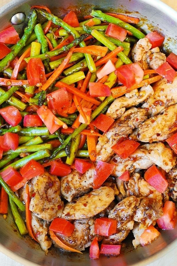 Balsamic Chicken and Vegetables from Julia's Album.