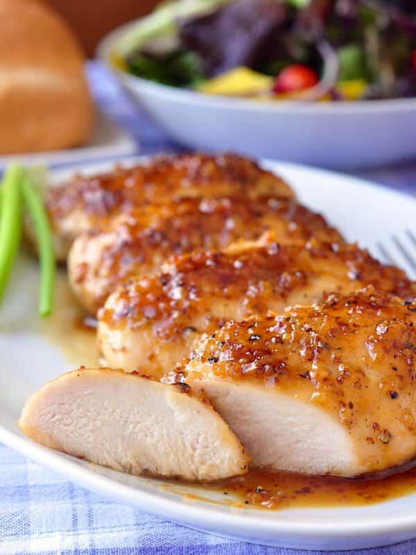 Honey Dijon Garlic Chicken Breasts from Rock Recipes.