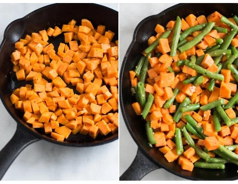 Sweet Potato Green Beans Shrimp Skillet Primavera Kitchen Recipe