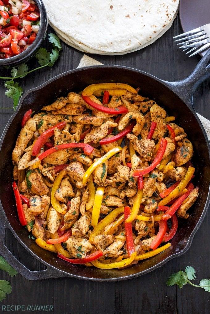 Skillet Chicken Fajitas from Recipe Runner.