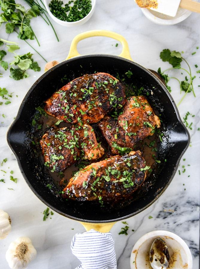 Easy Honey Dijon Skillet Chicken from How Sweet Eats.