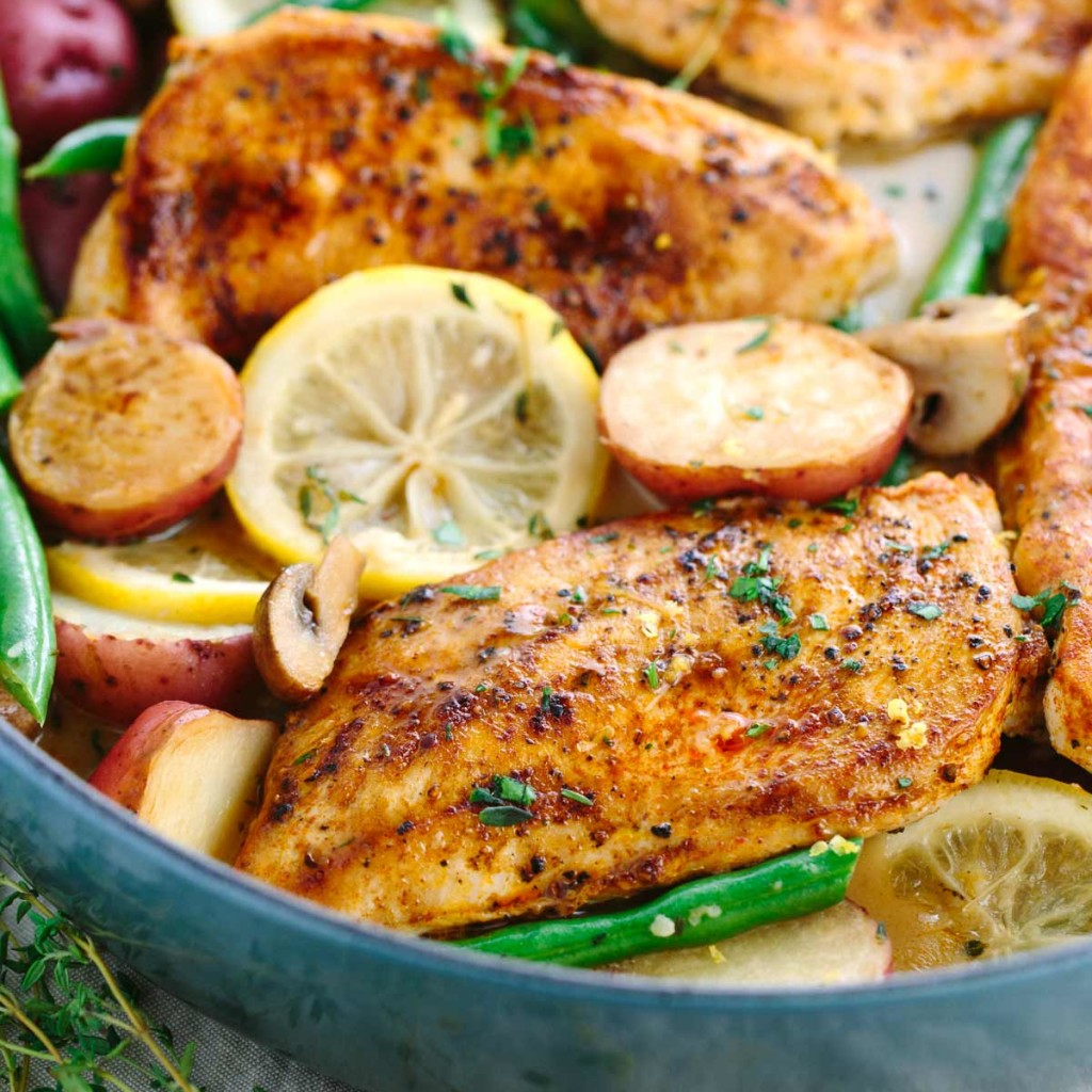 One Pot Meal Lemon Chicken With Vegetables from Jessica Gavin.