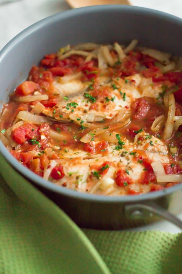 3-ingredient Tilapia Skillet 10 One-Pan Gluten-free Dinner Recipes Under 30 Minutes Primavera Kitchen Recipes