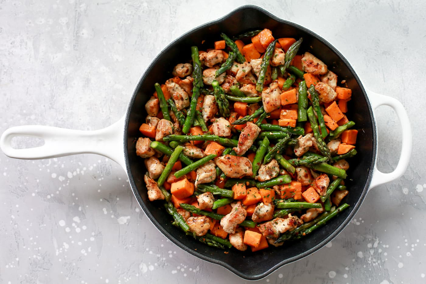 Asparagus Sweet Potato Chicken Skillet Primavera Kitchen