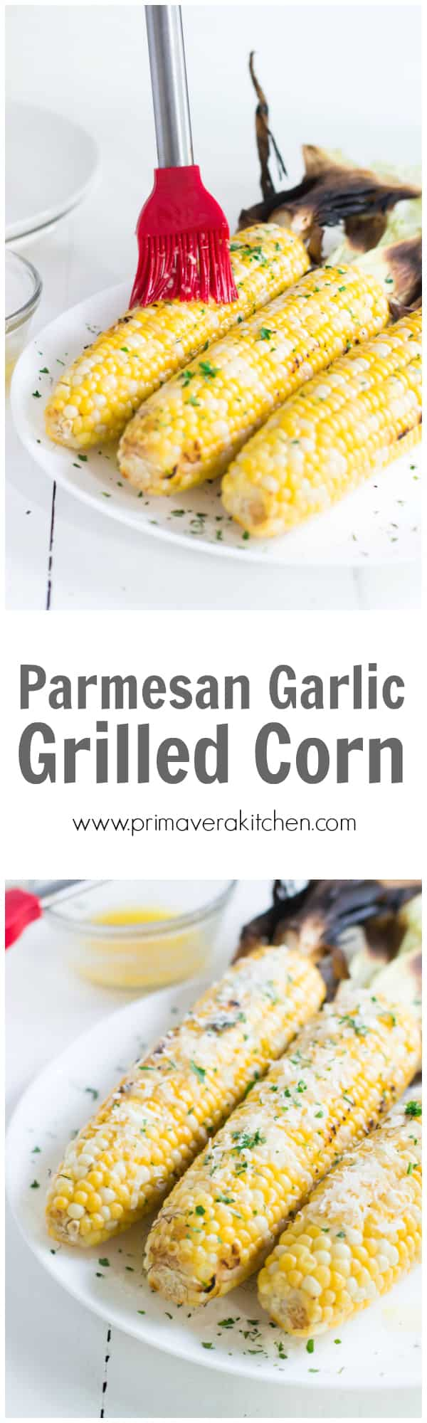 Parmesan Garlic Grilled Corn - This Parmesan Garlic Grilled Corn is juicy, tender, super flavourful and easy to make. Enjoy this favourite summer side dish!