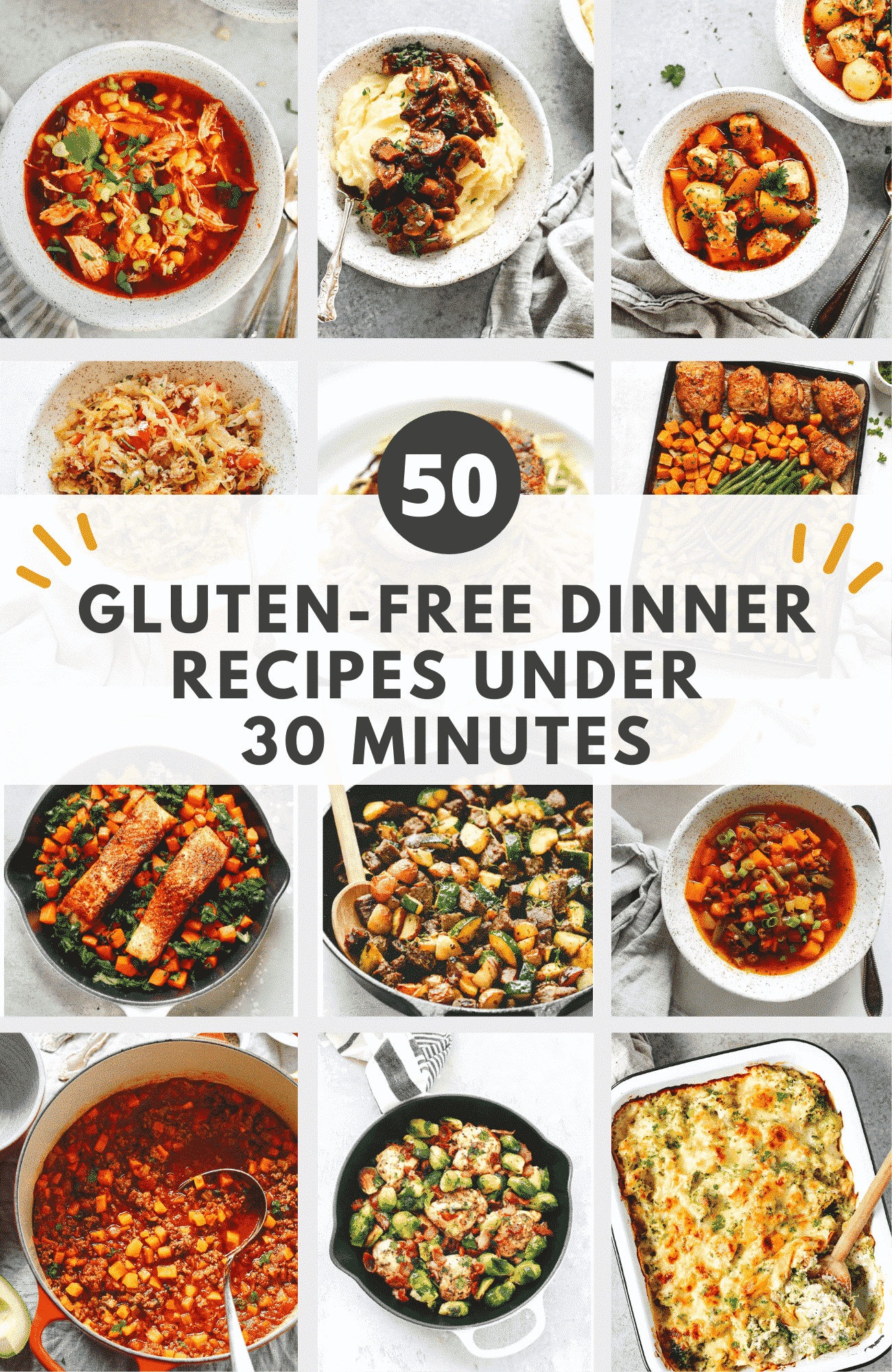 50 Gluten-free Dinner Recipes Under 30 Minutes