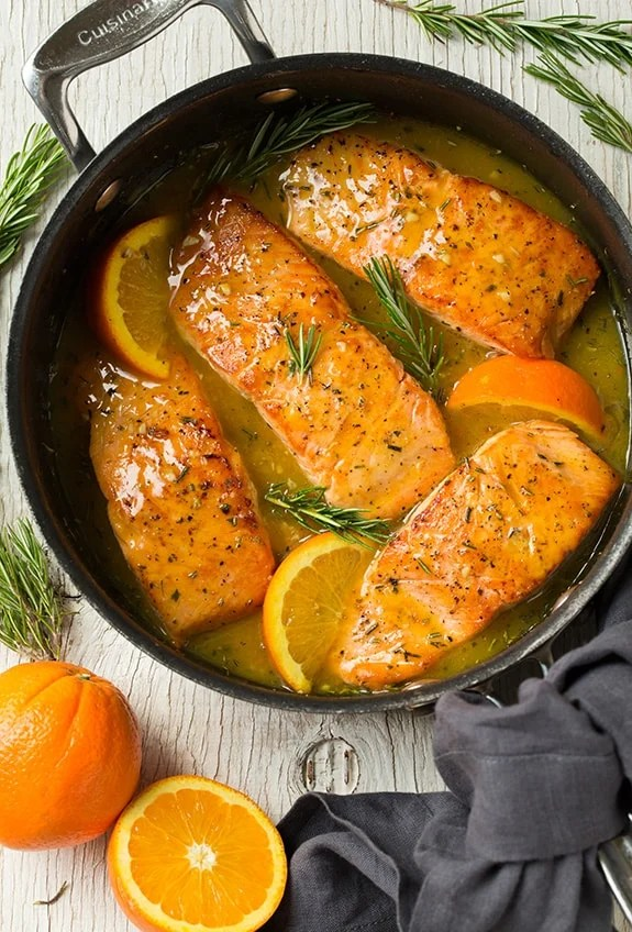 Easy orange rosemary glazed salmon Primavera Kitchen