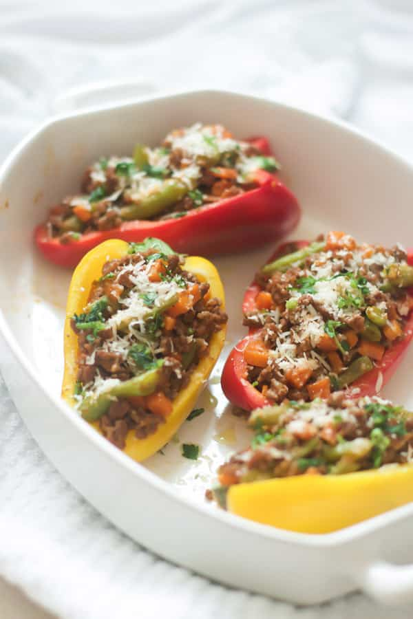 Easy Ground Turkey Stuffed Peppers.
