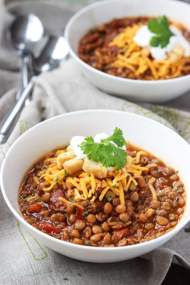 lentil-chili- Healthy Chili Recipes