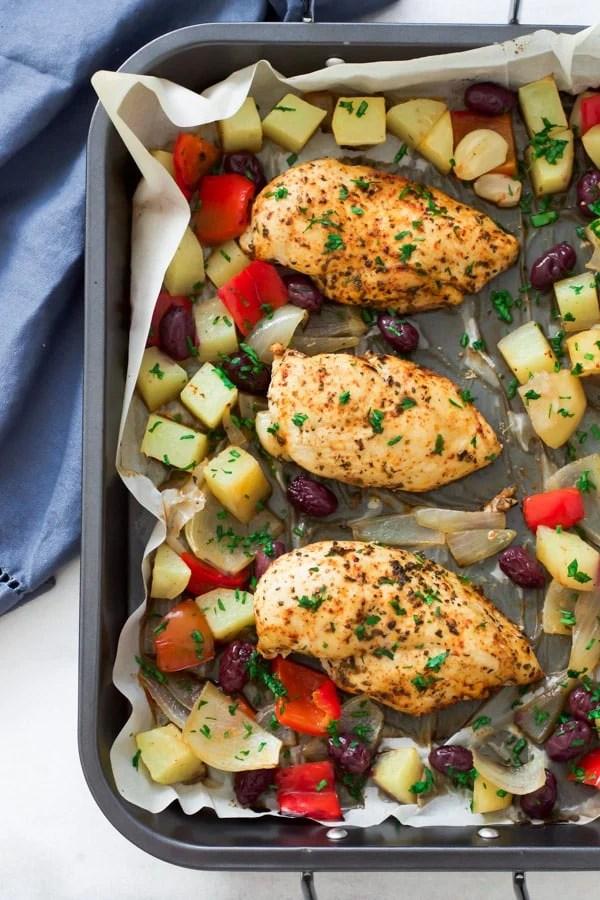 One Pan Mediterranean roast chicken Primavera Kitchen Recipe