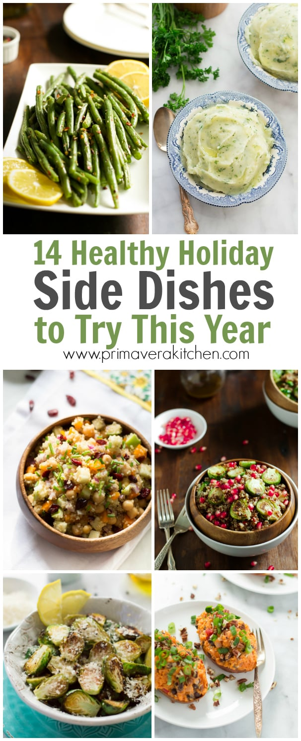 14-healthy-holiday-side-dishes-to-try-this-year - These 14 Healthy Holiday Side Dishes to Try this Year post brings to you a lot of options for you to make at this especial dinner! There are gluten-free, paleo-friendly and low-carb recipes to everyone to enjoy!