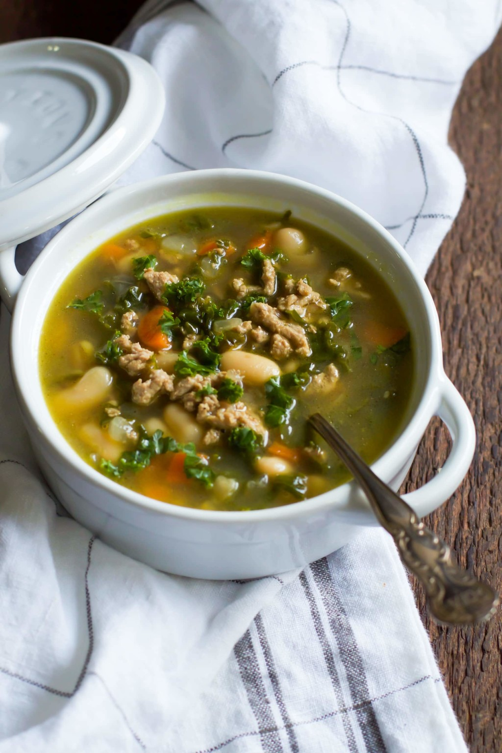 Ground Turkey White Bean Kale Soup Primavera Kitchen Recipe