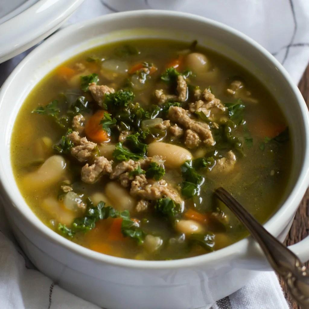 Ground Turkey White Bean Kale Soup Primavera Kitchen Recipe