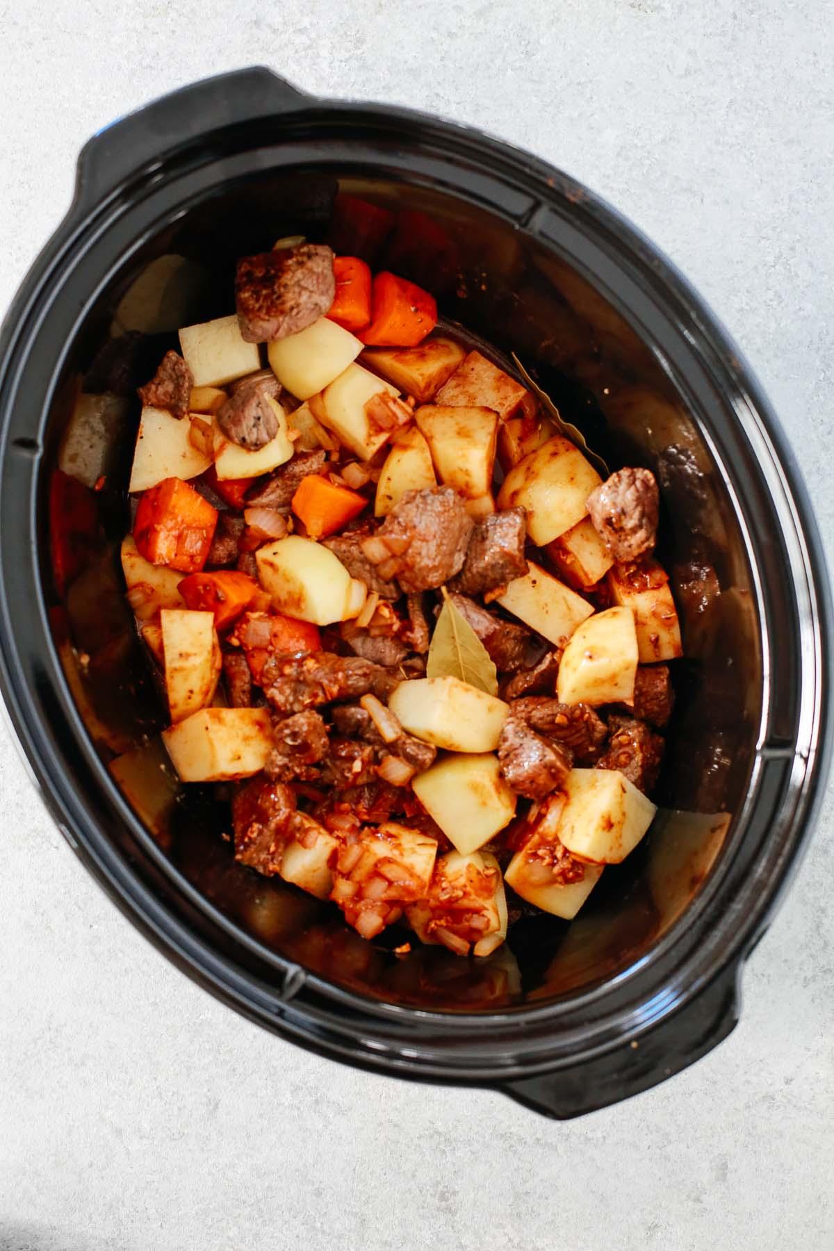 Healthy Slow Cooker Beef Stew Super Flavourful Primavera Kitchen